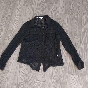 Beautiful black blouse by Lapis 🍀🌸🌟